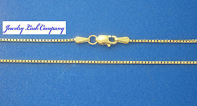 """14K Solid Yellow Gold 1mm Box Chain 30"""" 5grams"""
