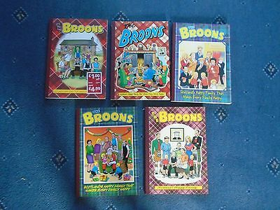 5 x The Broons Annual  paperback
