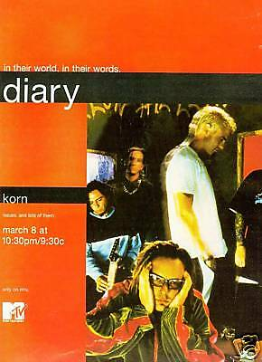 KORN In Their World - In The Words 2000 PROMO POSTER AD