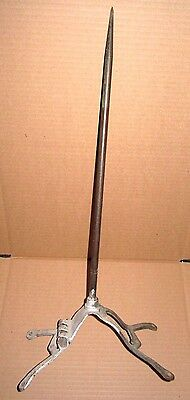 "Antique West Dodd Corp, Goshen Indiana, 18"" Solid Copper Lightning Rod & Stand"