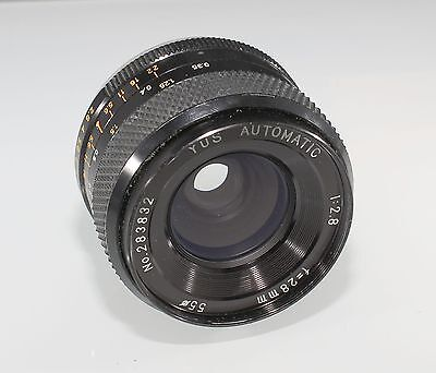 186947  Yashica Yus Automatic 28Mm F2.8 Yashica Contax Mount Lens Used