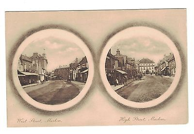Old Postcard, High St. & West St. Marlow