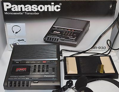 Panasonic RR-930 Microcassette Transcriber Dictation With Foot Pedal