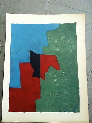 SERGE POLIAKOFF Original Lithograph Print 1961 Abstract Mid Century MODERN ART