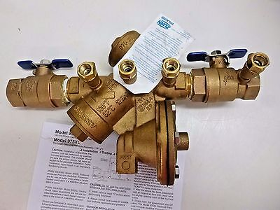 New!! Zurn Wilkins Reduced Pressure Backflow Preventer, 1-975Xl