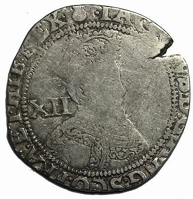Great Britain James I 1603-1625 AD AR Silver Shilling Medieval Coin MM: Thistle