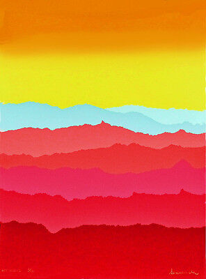 """HOT RIDGES"" Serigraph with a Temporary Big Price Reduction By Arthur Secunda"