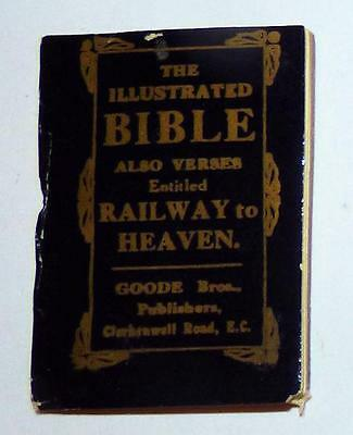 Illustrated Bible; also Verses entitled Railway to Heaven - Circa 1870