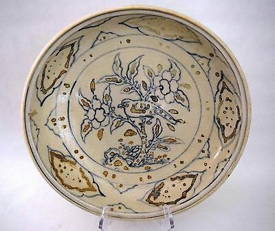 Hoi An - 15th Century - Under glazed Blue/Enameled Magnum Dish, Bird Decoration