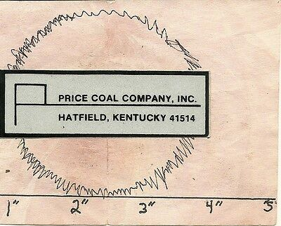 """Prince Coal Co (Ky) - Hard Hat- Coal Mining Sticker-Decal """" Old"""""""