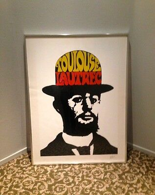 PETER MAX Signed & Framed Limited Ed. TOULOUSE LAUTREC Pop Art Lithograph Print
