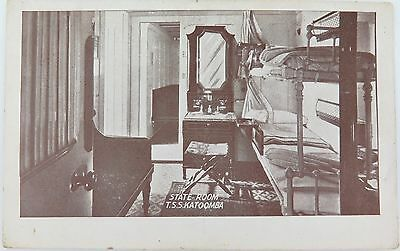 Rare Early 1900'S Postcard Of The T.s.s. Katoomba State Room.