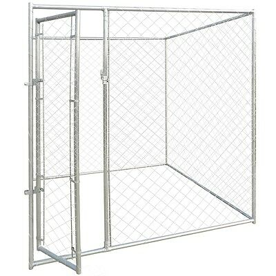 Outdoor Steel Dog Cage Kennel House Pet Enclosure Playpen Run Fence 2x2x1.95m