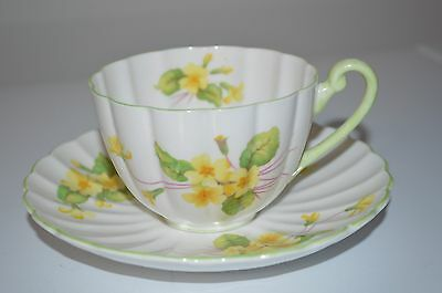 Shelley cup and saucer - pretty vintage bone china Enlgand - tea party floral