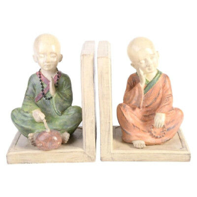 Pastel Colored Resin Inspirational Buddha Bookends Ornaments Figurines