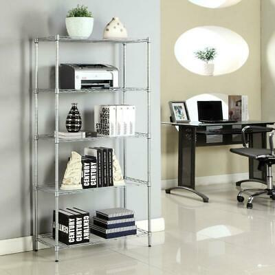 5 Tier Garage Wire Metal Shelving Unit Commercial Steel HeavyDuty Storage Shelf