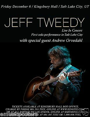 JEFF TWEEDY 2013 SALT LAKE CITY CONCERT TOUR POSTER - Wilco, Uncle Tupelo