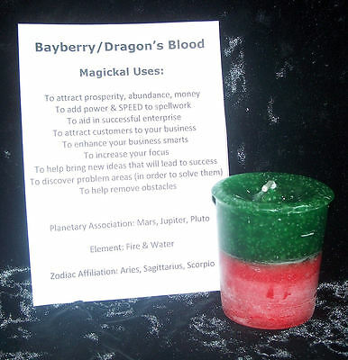 BAYBERRY Dragon's Blood  candle CRYSTAL JOURNEY Candles - Manifestation SUCCESS