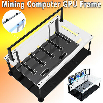 Solid Durable Open Air Mining Case Computer Frame Rig for 6 GPU ETH BTC Ethereum