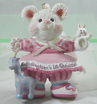 Grandaughters 1st Christmas Bear with Toys Christmas Tree Ornament new holiday