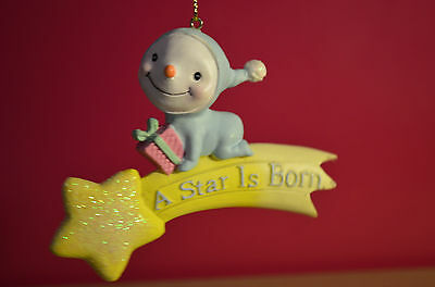Babys First Christmas A Star Is Born Christmas Tree Ornament NWT shooting star