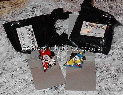 NEW 2 Disney Pins MYSTERY PINS  Puzzle Shaped  Donald Duck and Minnie Mouse