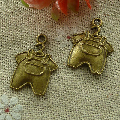 free ship 280 pieces Antique bronze rompers charms 22x16mm #2534
