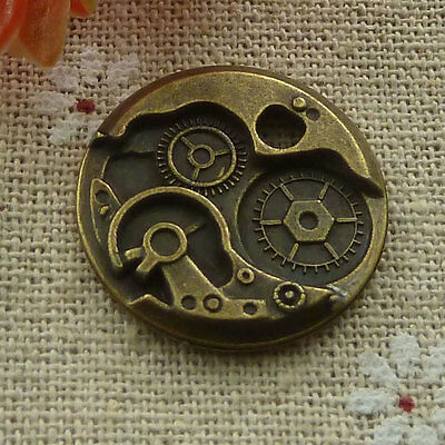 Free Ship 80 pieces Antique bronze clock charms 25x25mm #1299
