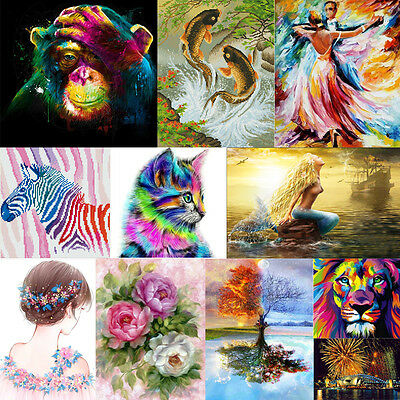 Full Drill DIY 5D Diamond Painting Embroidery Flower Animals Cross Crafts Stitch