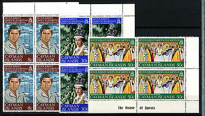 Cayman Islands 1977 Silver Jubilee MNH Corner Blocks Set #D51321