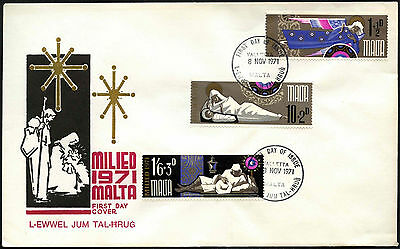 Malta 1971 Christmas FDC First Day Cover #C42654