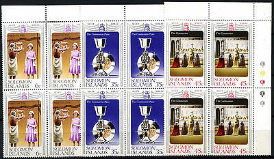Solomon Islands 1977 Silver Jubilee MNH Corner Blocks Set #D51334