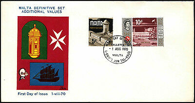 Malta 1970 Additional Definitives FDC First Day Cover #C42650