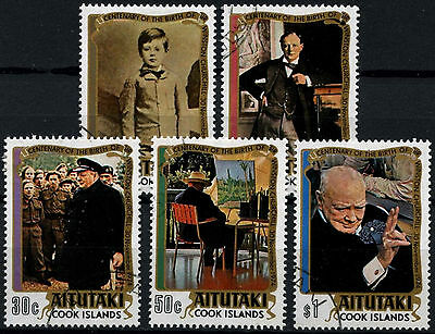Aitutaki 1974 SG#136-140 Sir Winston Churchill Cto Used Set #D51126