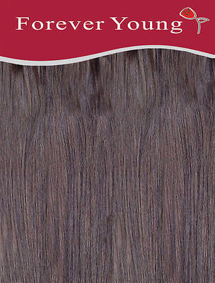 """Full Head Clip In Hair Extension Double Weft Clip In Synthetic 20"""" Medium Brown"""