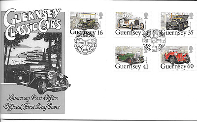 GUERNSEY 1994 Classic Cars set FDC