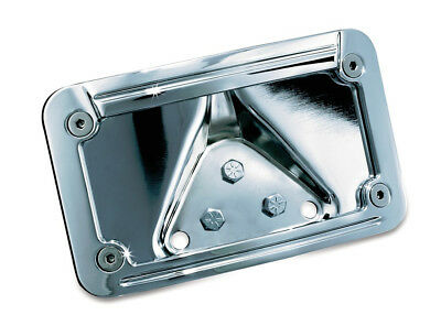 Kuryakyn LED Lighted Curved Laydown License Plate Mount with Frame   _3138