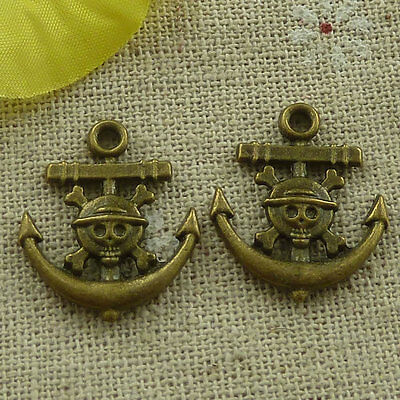 free ship 200 pieces Antique bronze anchor boy charms 22x19mm #3340