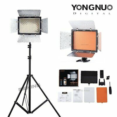 "Yongnuo YN-300 III 3200K-5500K Pro LED Video Light +195cm /6'4"" Light Stand Set"