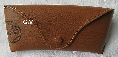 Ray Ban Sunglasses Case Free Post Brown Leather