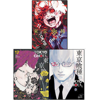 Sui Ishida Tokyo Ghoul Volume(11 to 13) 3 Books Collection Set Anime & Manga NEW