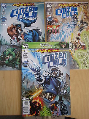 FLASHPOINT : CITIZEN COLD, COMPLETE 3 ISSUE SERIES by KOLINS. #s 1,2,3. DC.2011