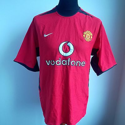 Manchester United 2002 Home Football Shirt Nike Jersey Size Adult L