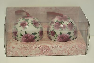 M&s Two Vintage Scented Pomanders From The Floral Collection Rose Still Boxed