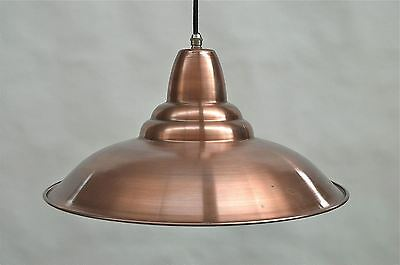 Retro aged copper ceiling light shade pendant lamp industrial HSCSR4