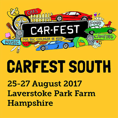 Carfest SOUTH - 2 Adults, 2 Children (6-16) for 3 nights family camping