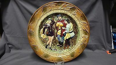 Vintage Beswick Large Wall Plate/plaque Shakespeares 'as You Like It '