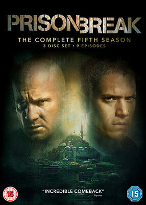 Prison Break: The Complete Fifth Season DVD (2017) Wentworth Miller ***NEW***