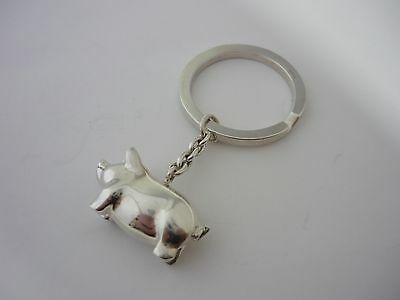 Stunning & Rare Heavyweight Sterling Silver Links Of London  Pig Keyring