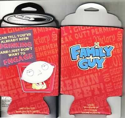 The Family Guy Stewie You've Already Been Drinking Can Cooler Huggie, NEW UNUSED